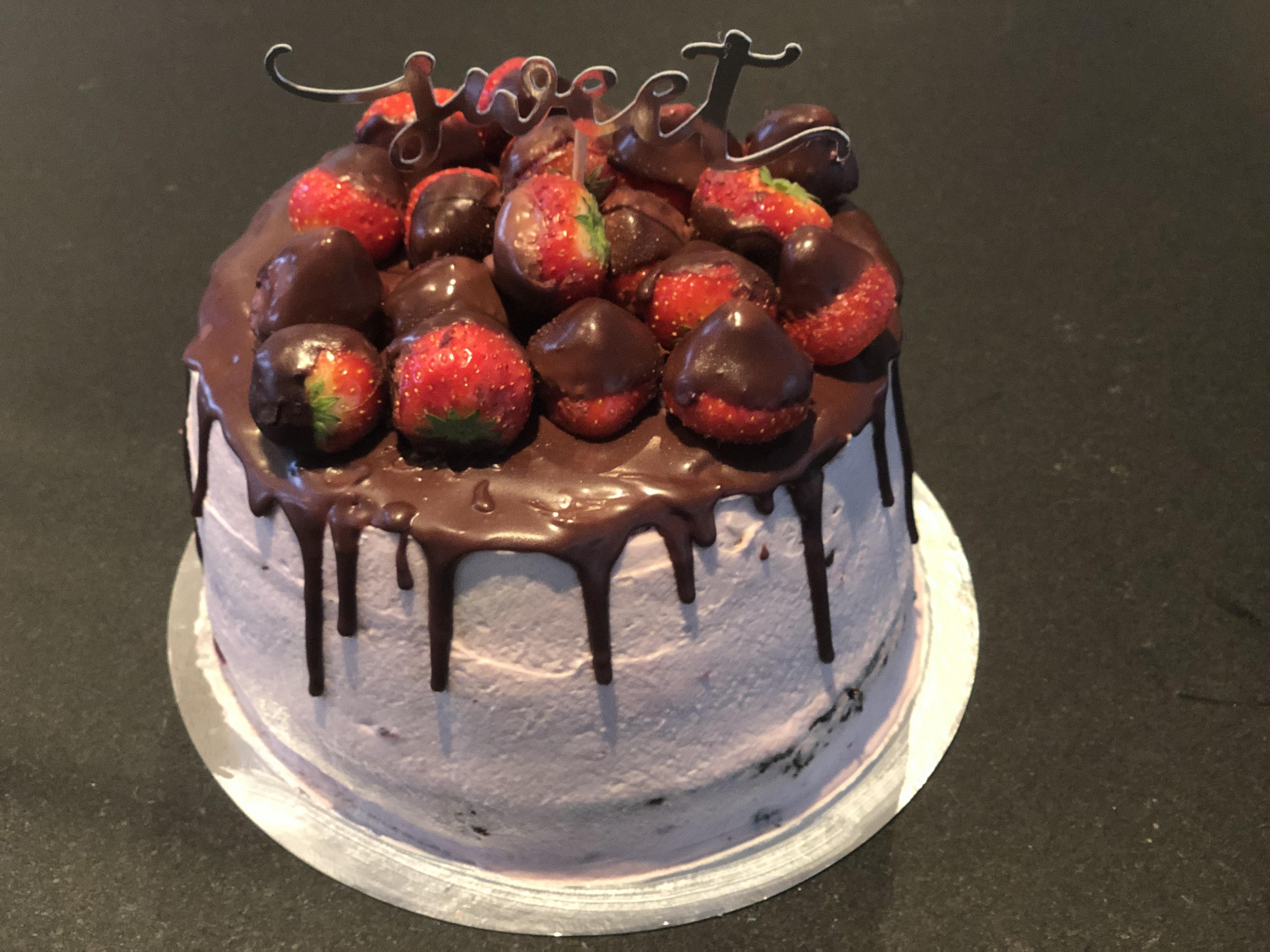 Chokladtårta med körsbärsfyllning