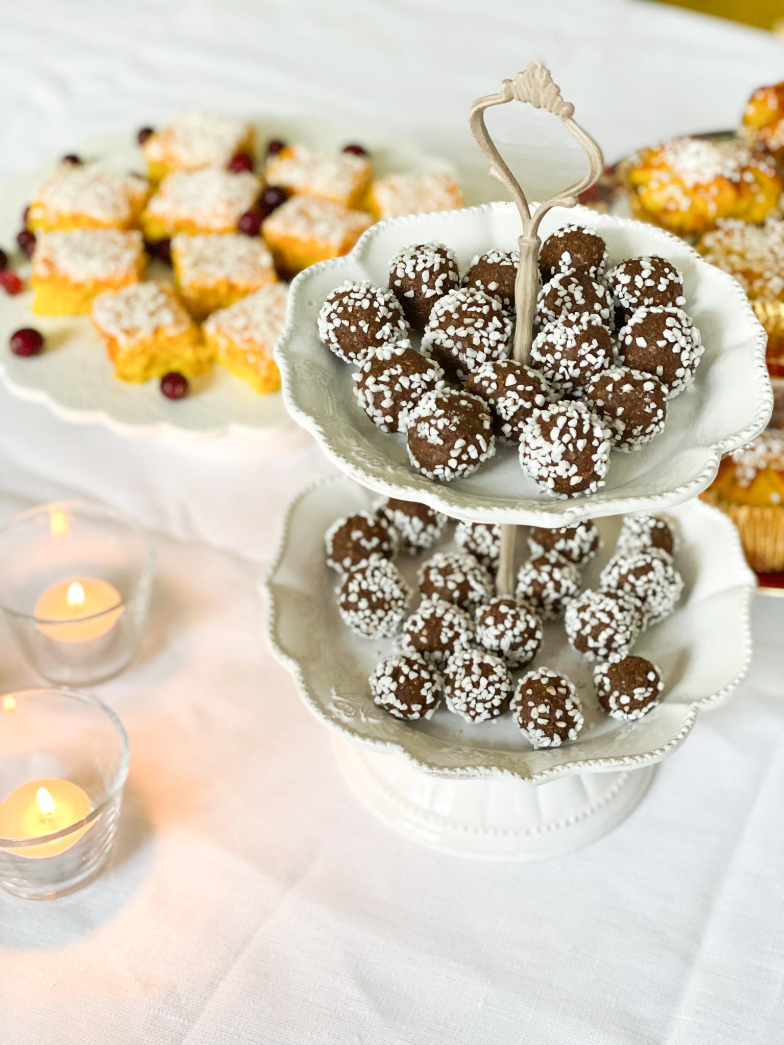 Chokladbollar med pepparkakskrydda